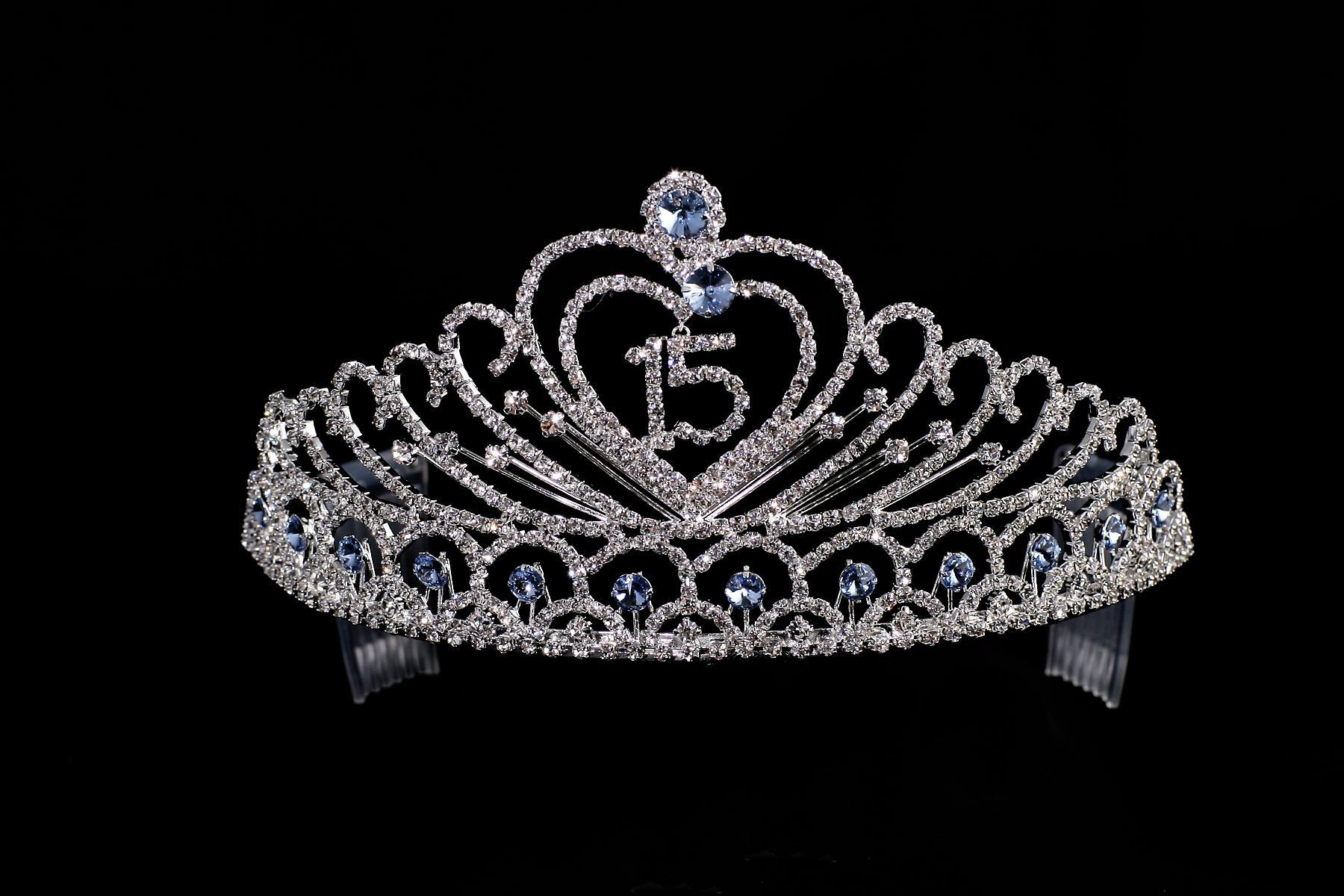 C8332 Rhinestone Quinceanera Crown